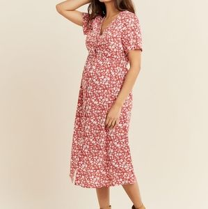 Thyme | Button-Down Short Sleeve Printed Dress